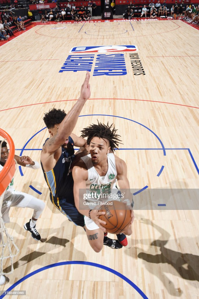 Carsen Edwards Of The Boston Celtics Shoots The Ball Against The