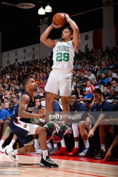 Carsen Edwards of the Boston Celtics strobe against the Denver Nuggets on July 9 2019 at the Cox Pavilion in Las Vegas Nevada NOTE TO USER User...