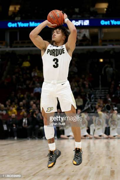 Carsen Edwards of the Purdue Boilermakers attempts a shot in the first half against the Minnesota Golden Gophers during the quarterfinals of the Big...