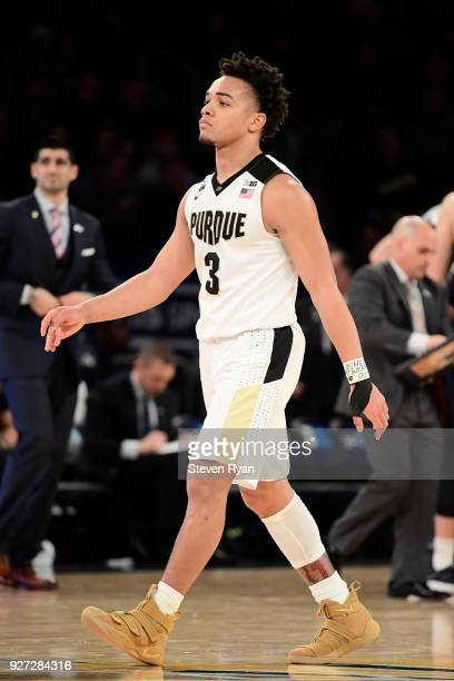 Carsen Edwards of the Purdue Boilermakers in action against the Penn State Nittany Lions during the semifinals of the Big Ten Basketball Tournament...