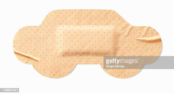 Car-shaped sticking-plaster