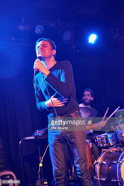 Carson Cox and Leo Suarez of Merchandise perform at The Lexington on November 2 2016 in London England