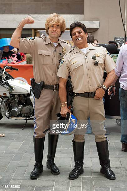 Carson Daly and Erik Estrada attend NBC's Today Halloween 2013 in Rockefeller Plaza on October 31 2013 in New York City