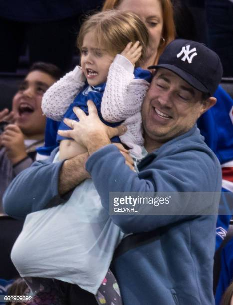 Carson Daly and Etta Daly attend Pittsburgh Penguins Vs. New York Rangers game at Madison Square Garden on March 31, 2017 in New York City.