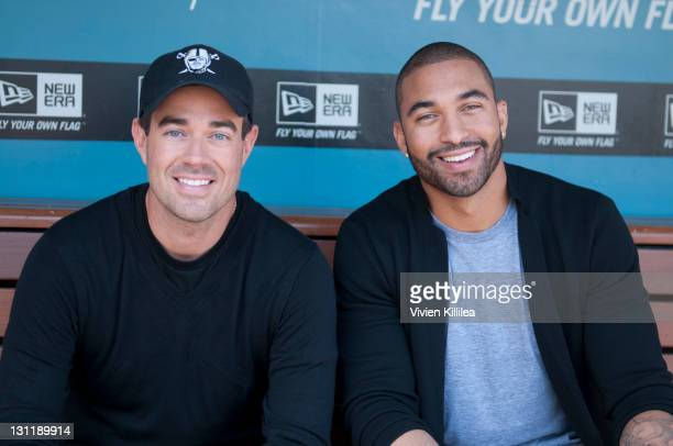 Carson Daly and Matt Kemp at Matt Kemp Shoots 'Last Call With Carson Daly' For Day Of Champions Event Benifting The Bogart Foundation at Dodger...