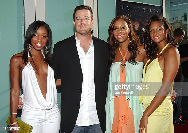 Carson Daly and MisTeeq during Catwoman Los Angeles Premiere Arrivals at ArcLight Cinerama Dome in Hollywood California United States