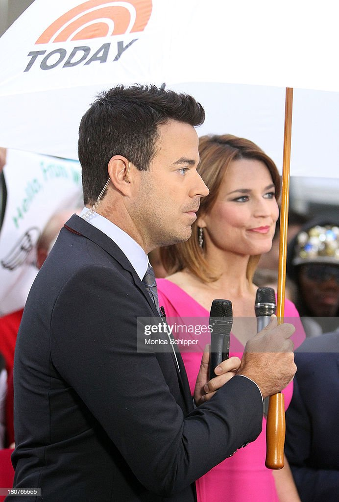Carson Daly and Savannah Guthrie attend NBC's 'Today' at NBC's TODAY Show on September 16, 2013 in New York City.