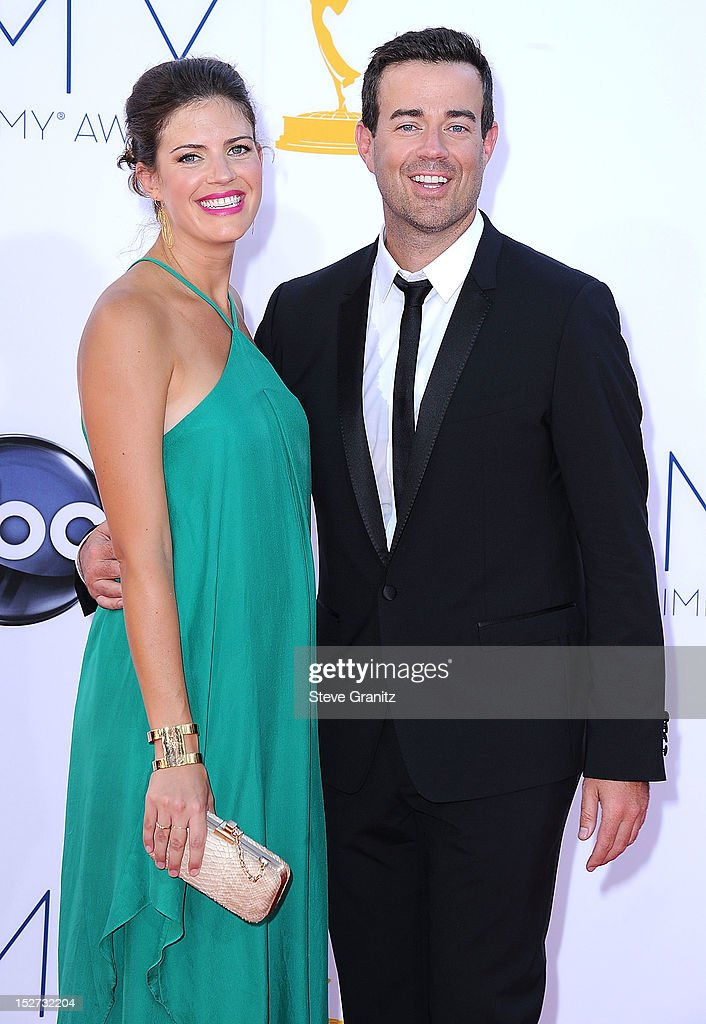 Carson Daly and Siri Pinter arrives at the 64th Primetime Emmy Awards at Nokia Theatre L.A. Live on September 23, 2012 in Los Angeles, California.