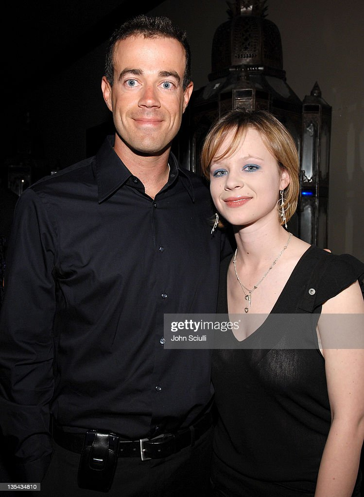 Carson Daly and Thora Birch during 'Last Call with Carson Daly' 5 Year Anniversary Party at Social Hollywood, Level 2 in Hollywood, California, United States.