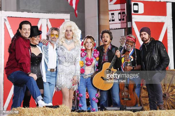 Carson Daly as Billy Ray Cyrus Megan Kelly as Shania Twain Savannah Guthrie as Kenny Rogers and Matt Lauer as Dolly Parton Kathie Lee Gifford as...