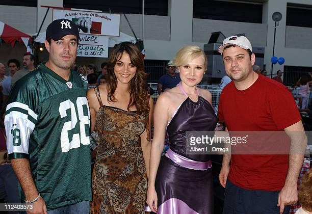 Carson Daly Carolina Bacardi Alana Curry and Jimmy Kimmel