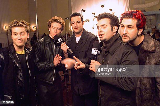 Carson Daly interviews 'NSYNC before MTV's 'Total Request Live' photo shoot with photographer David LaChapelle The photo of Grammy nominated 'TRL'...