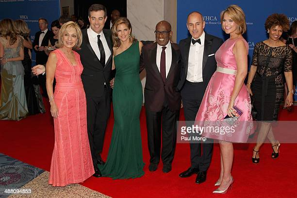 Carson Daly Natalie Morales Al Roker Matt Lauer and Savannah Guthrie attend the 100th Annual White House Correspondents' Association Dinner at the...