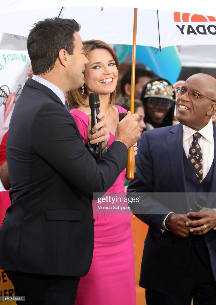 Carson Daly, Savannah Guthrie and Al Roker attend NBC's 'Today' at NBC's TODAY Show on September 16, 2013 in New York City.