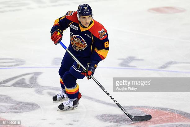 Carson Edwardson of the Erie Otters skates during an OHL game against the Niagara IceDogs at the Meridian Centre on October 6 2016 in St Catharines...