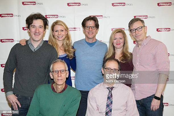 Carson Elrod Kelly Hutchinson Rick Holmes Liv Rooth Arnie Burton Playwright David Ives and Director John Rando attend 'Lives Of The Saints' Press...