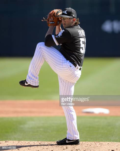 Carson Fulmer of the Chicago White Sox pitches against the San Diego Padres on March 4 2018 at Camelback Ranch in Glendale Arizona