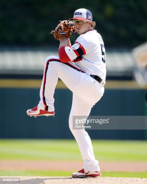 Carson Fulmer of the Chicago White Sox pitches against the San Francisco Giants on September 10 2017 at Guaranteed Rate Field in Chicago Illinois The...
