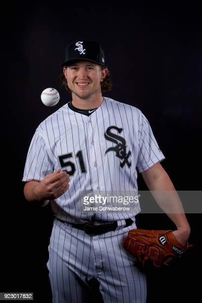 Carson Fulmer of the Chicago White Sox poses during MLB Photo Day on February 21 2018 in Glendale Arizona
