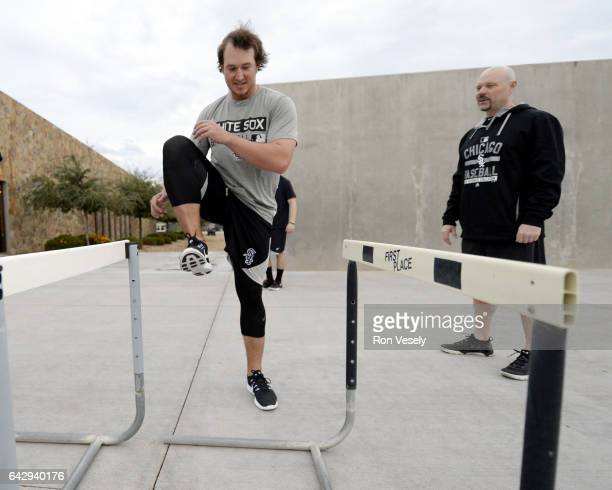 Carson Fulmer of the Chicago White Sox works out during spring training workouts on February 18 2017 at Camelback Ranch in Glendale Arizona