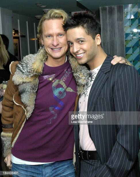 Carson Kressley and Jai Rodriguez during Jai Rodriguez Farewell Party in Celebration of His Final Appearance in Brodway's 'The Producers' at Hipster...