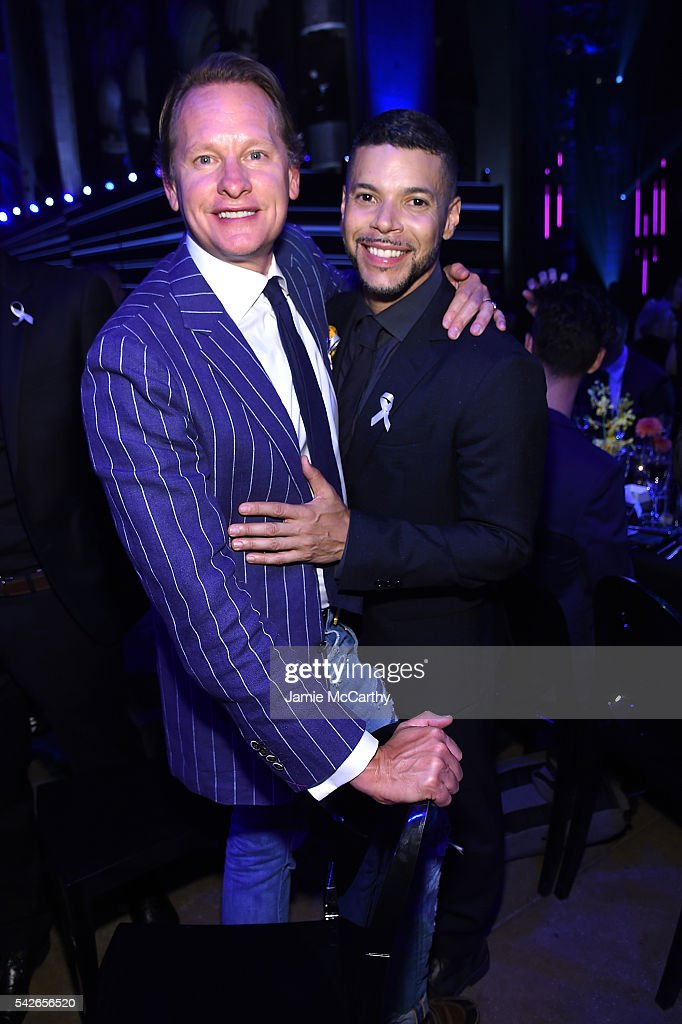 Carson Kressley and Wilson Cruz attend 2016 Logo's Trailblazer Honors at Cathedral of St. John the Divine on June 23, 2016 in New York City.