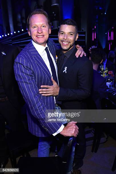 Carson Kressley and Wilson Cruz attend 2016 Logo's Trailblazer Honors at Cathedral of St John the Divine on June 23 2016 in New York City