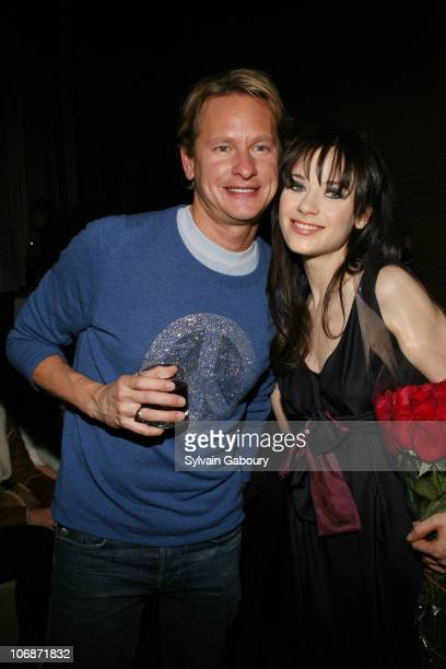 Carson Kressley and Zooey Deschanel during Cinema Society Hugo Boss present the premiere of Winter Passing and after party at the Tribeca Grand Hotel...