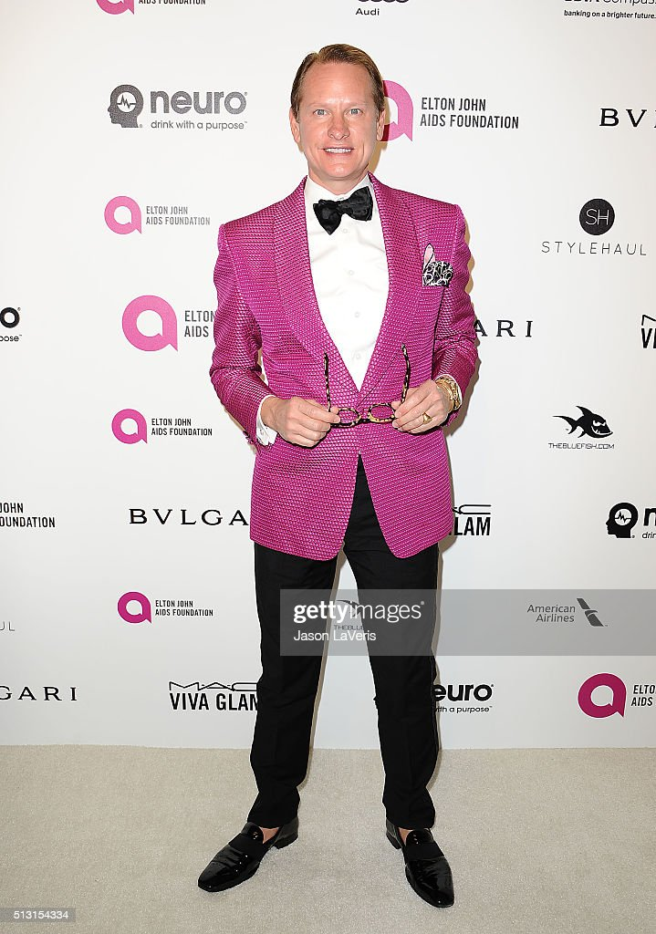 Carson Kressley attends the 24th annual Elton John AIDS Foundation's Oscar viewing party on February 28, 2016 in West Hollywood, California.