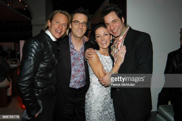 Carson Kressley Ted Allen Margaret Russell and Thom Felicia attend Elle Decor's Dining by Design dinner gala presented by Champagne Taittinger to...