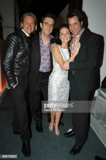 Carson Kressley, Ted Allen, Margaret Russell and Thom Felicia attend Elle Decor's Dining by Design dinner gala presented by Champagne Taittinger to...