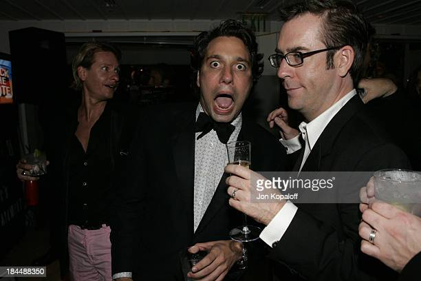 Carson Kressley Thom Filicia and Ted Allen during Entertainment Tonight Emmy Party Sponsored by People Magazine Inside at The Mondrian in West...