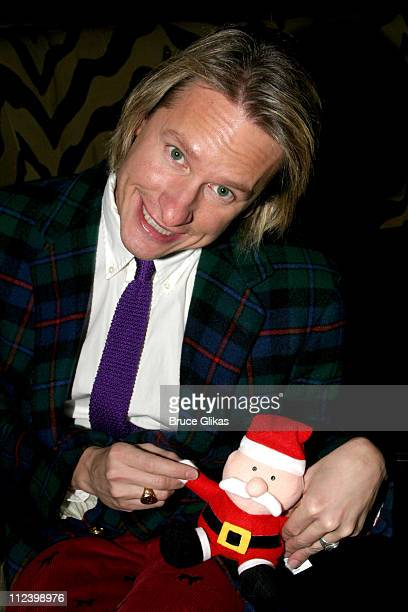Carson Kressley with Santa during 'Dinah The Christmas Whore' by David Sedaris A Benefit for 'Everybody Wins' Children's Literacy Fund at Lot 61 in...