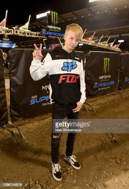 Carson Lueders attends Monster Energy Supercross Celebrity Night at Angel Stadium on January 19 2019 in Anaheim California