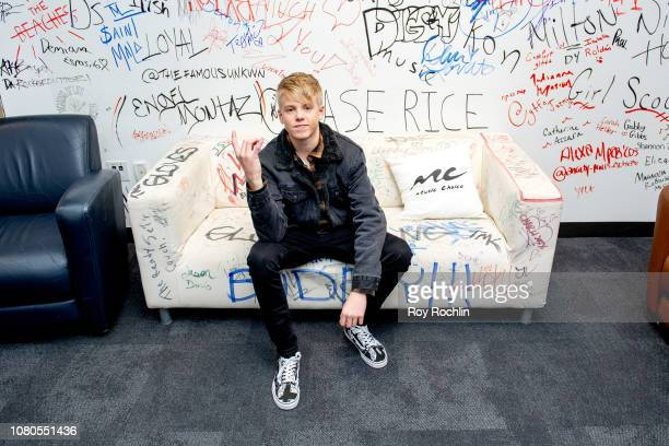 Carson Lueders visits Music Choice on December 10 2018 in New York City