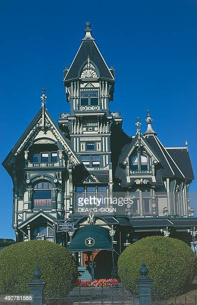 Carson Mansion 1886 in Victorianstyle in the old town of Eureka California United States of America
