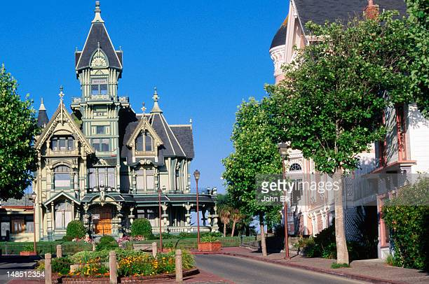 carson mansion (1886). - carson california stock pictures, royalty-free photos & images