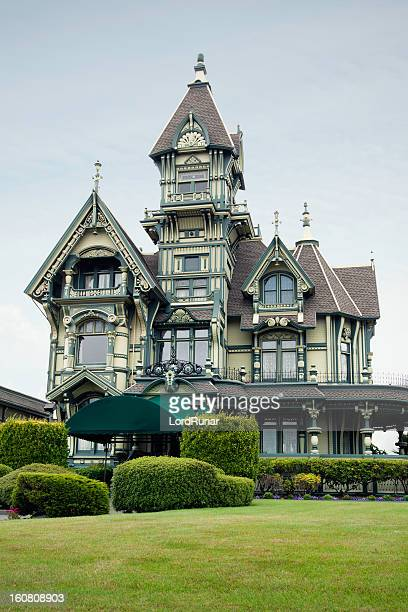 carson mansion - victorian style stock pictures, royalty-free photos & images