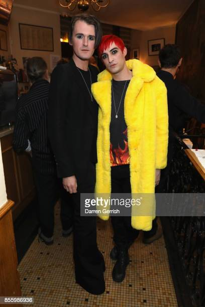 Carson McColl and Gareth Pugh attend a dinner in Paris to celebrate Another Magazine A/W17 hosted by Vivienne Westwood, Andreas Kronthaler, Jefferson...