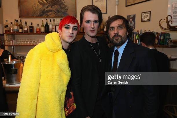 Carson McColl, Gareth Pugh and Andreas Kronthaler attend a dinner in Paris to celebrate Another Magazine A/W17 hosted by Vivienne Westwood, Andreas...