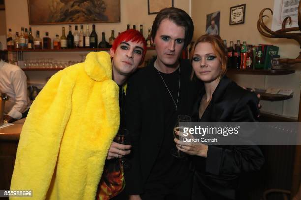 Carson McColl, Gareth Pugh and Katie Shillingord attend a dinner in Paris to celebrate Another Magazine A/W17 hosted by Vivienne Westwood, Andreas...