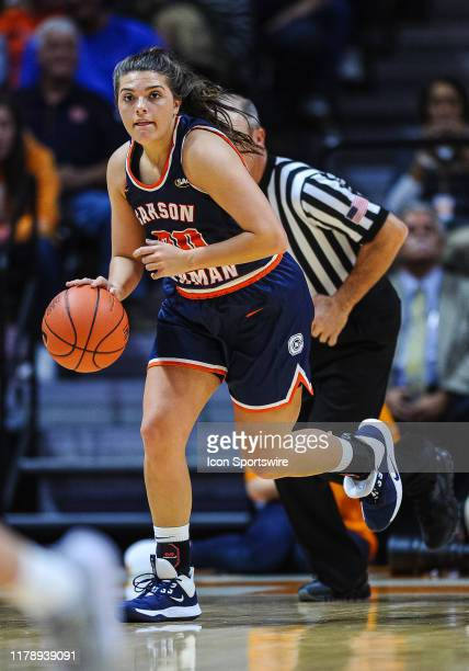 Carson Newman Eagles guard Harli Smith brings the ball up court during a college basketball game between the CarsonNewman Eagles and Tennessee Lady...