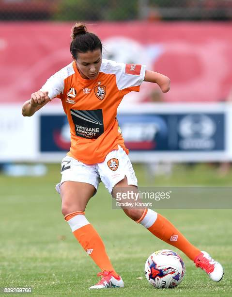 Carson Pickett of the Roar in action during the round seven WLeague match between the Brisbane Roar and the Newcastle jets at AJ Kelly Reserve on...