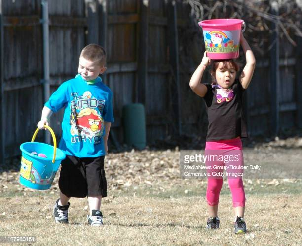 Carson Warenbourg and Alyssa Duran return from the hunt with their bountyThe Lafayette Recreation Department hosted the annual City of Lafayette...