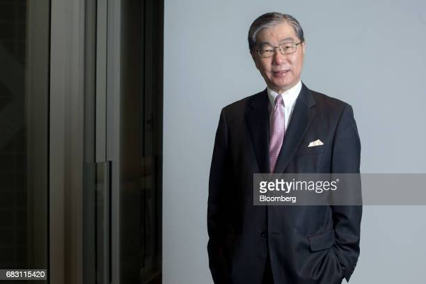 Carson Wen founder and chairman of Bank of Asia Ltd poses for a photograph in Hong Kong China on Friday April 21 2017 Bank of Asia aims to be a...