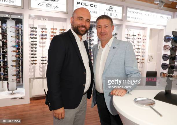 Carsten Baenke and Joachim Llambi at the Late Night Shopping at Designer Outlet Soltau on August 3 2018 in Soltau Germany