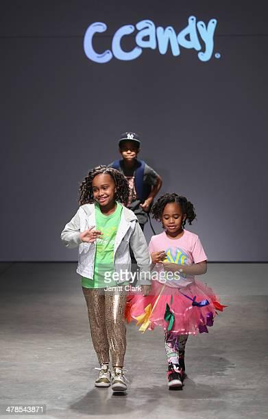 Carsten Charles Sabathia III Jaden Sabathia and Cyia Sabathia attend their moms CCandy Clothing event at the Petite Parade Kids Fashion Show at 545...
