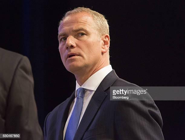 Carsten Kengeter chief executive officer of Deutsche Boerse AG looks on during the German stock exchange's annual general meeting in Frankfurt...