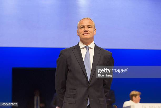 Carsten Kengeter chief executive officer of Deutsche Boerse AG poses for a photograph at the German stock exchange's annual general meeting in...