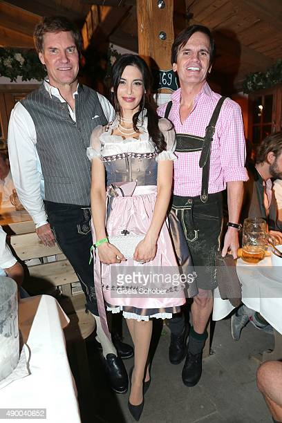 Carsten Maschmeyer, Alexander Dibelius and his wife Laila Maria Witt during the Oktoberfest 2015 at Kaeferschaenke at Theresienwiese on September 25,...